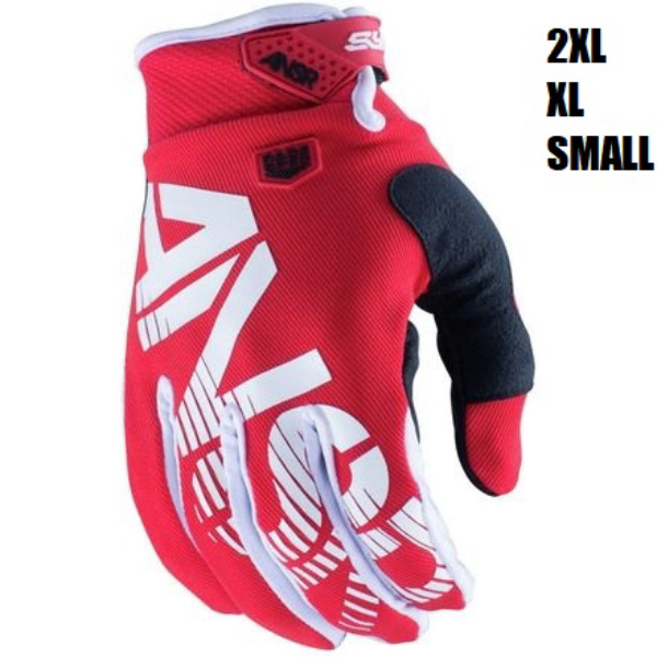 Adult Motocross Gloves Black Red Clearance Small XXL