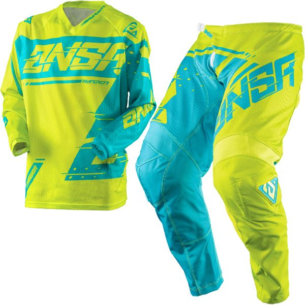 ANSWER 2018 Motocross Gear Combo - SYNCRON AIR Acid / Blue - LARGE - Adults Kit