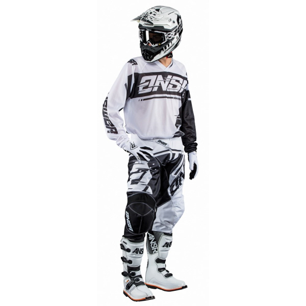 ANSWER 2018 Motocross Gear Combo - SYNCRON AIR - Black/White - XL  EXTRA LARGE - Adults Kit