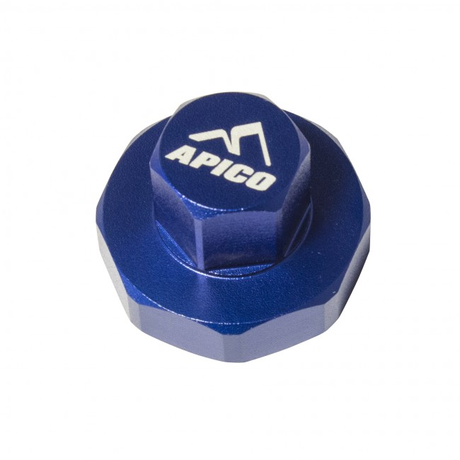 APICO FORK COMPRESSION VALVE REMOVAL TOOL SHOWA & KYB SFF AIR FORK KX250F 13-17, KX450F 15-17  BLUE  (R)