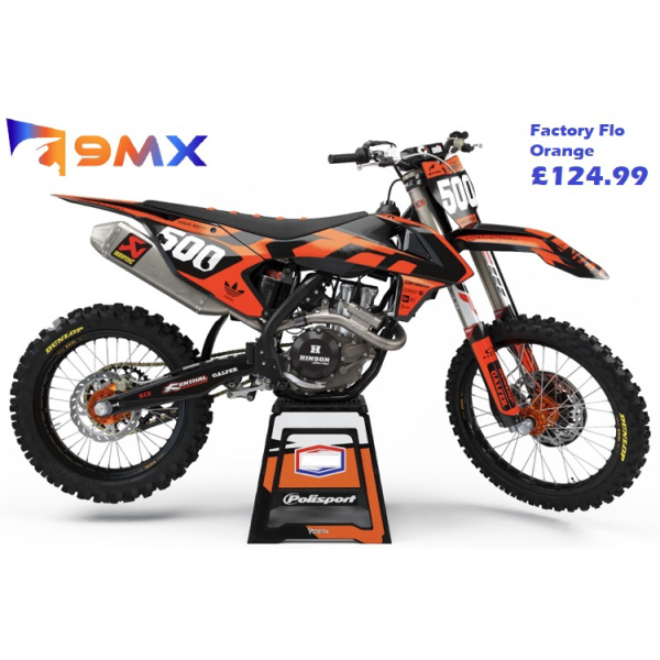 Factory Fluorescent Orange – KTM SX/SXF/EXC/EXC-F Graphics Kit - Semi Custom