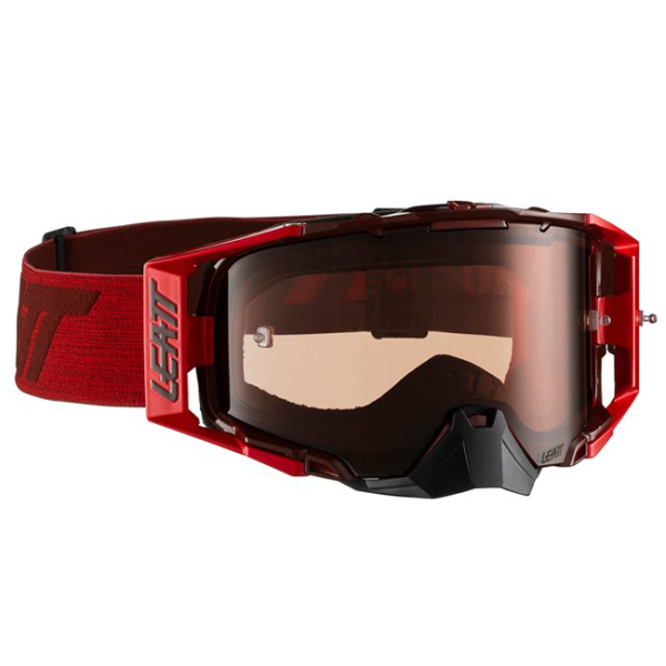 LEATT VELOCITY 6.5 GOGGLE - RUBY/RED - ROSE UC LENS